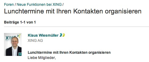 Mittagessenstermine vereinbaren mit dem eigenen Netzwerk &#8211; xing.com mit einer tollen Funktion