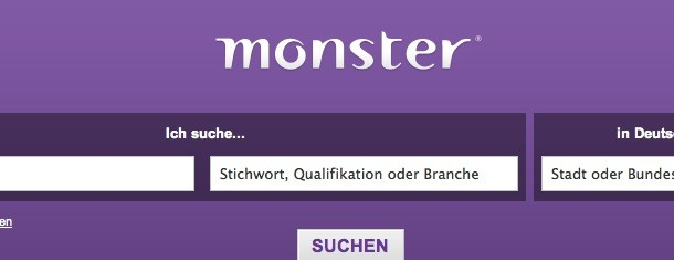 Historie von Monster.com als Infografik