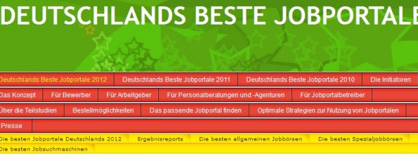 Studie Deutschlands beste Jobportale 2012