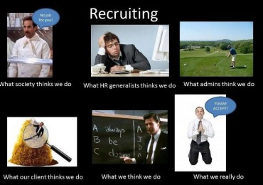 Because freakin' miracle worker is not a title, therefore we call them Recruiter