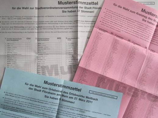 Meine Ergebnisse bei der Kommunalwahl 2011