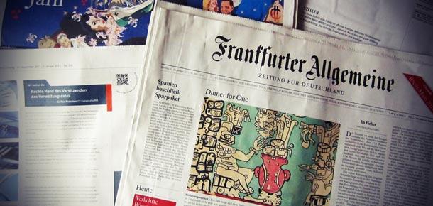 Print-Stellenmarkt 2012 der F.A.Z. am Samstag erodiert um 14 % weiter