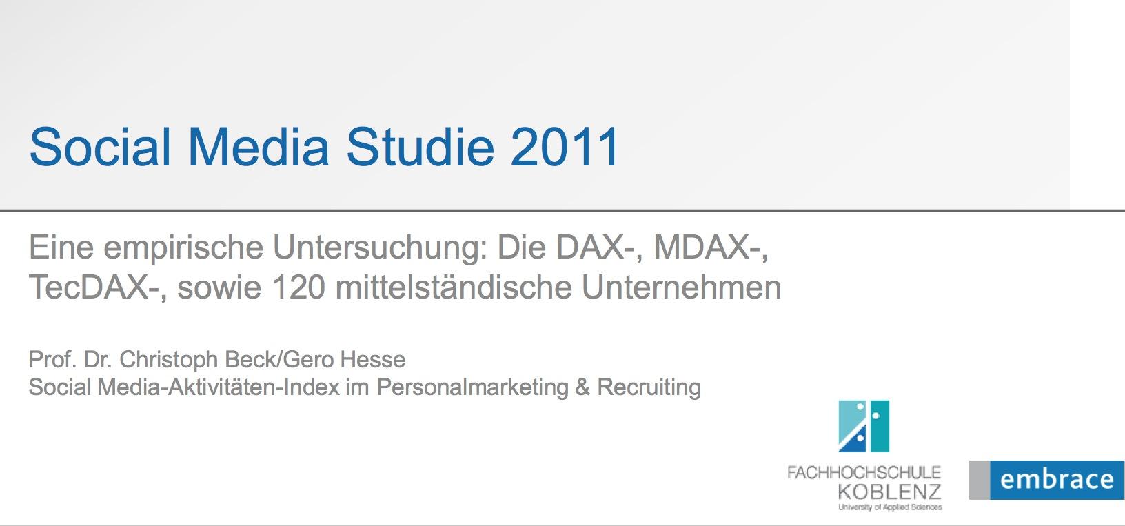 Pulsmesser über Social-Media-Aktivitäten der DAX-Konzerne