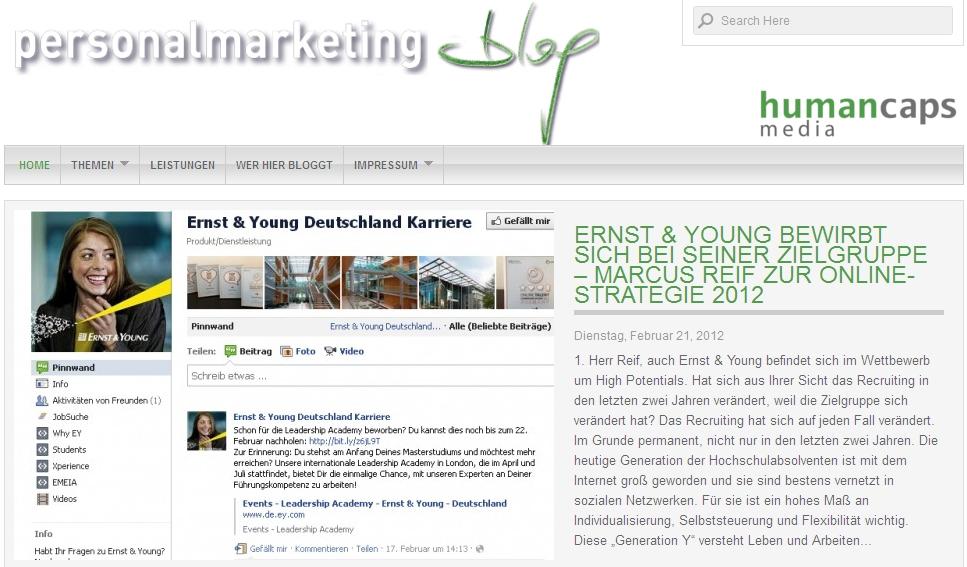 Personalmarketingblog: Marcus Reif zur Online-Strategie 2012