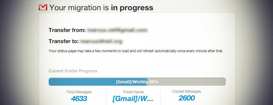 Umstieg von Google-Mail auf Google-Apps