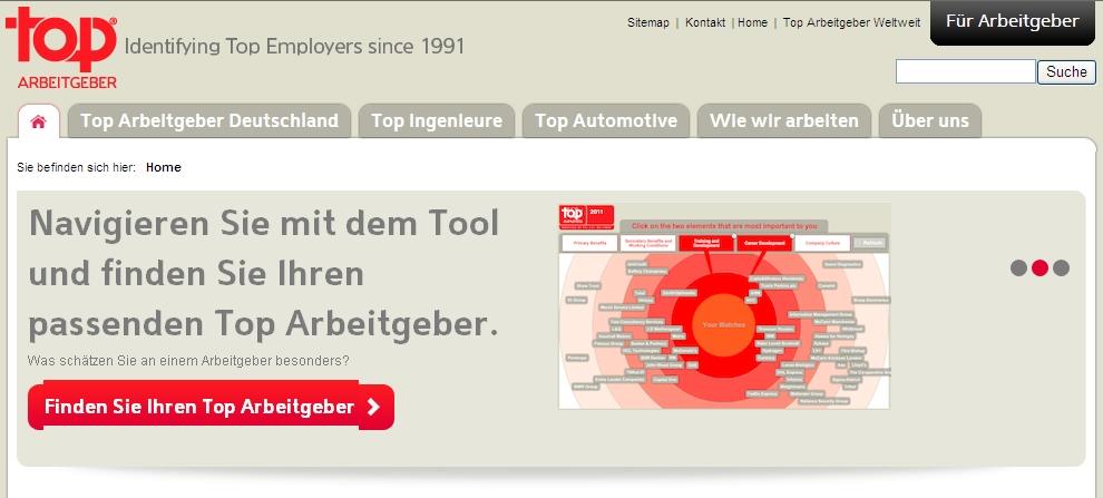 Top-Arbeitgeber Deutschlands 2012
