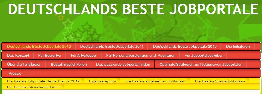 Studie Deutschlands beste Jobportale 2012