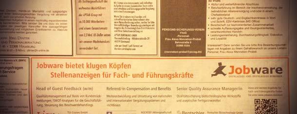 Print-Stellenmarkt der F.A.Z.