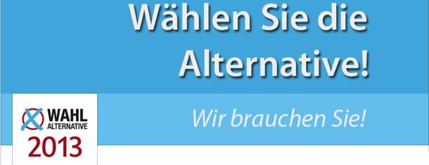 """Eine neue Partei am Start: """"Alternative für Deutschland"""""""