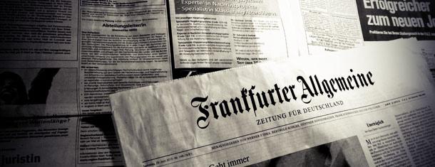 Print-Stellenmarkt der F.A.Z. erodiert weiterhin auf 7,15 Seiten im 1. Halbjahr 2013