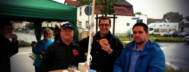 Heute aktiv (im Regen) zur Landtags- und Bundestagswahl 2013