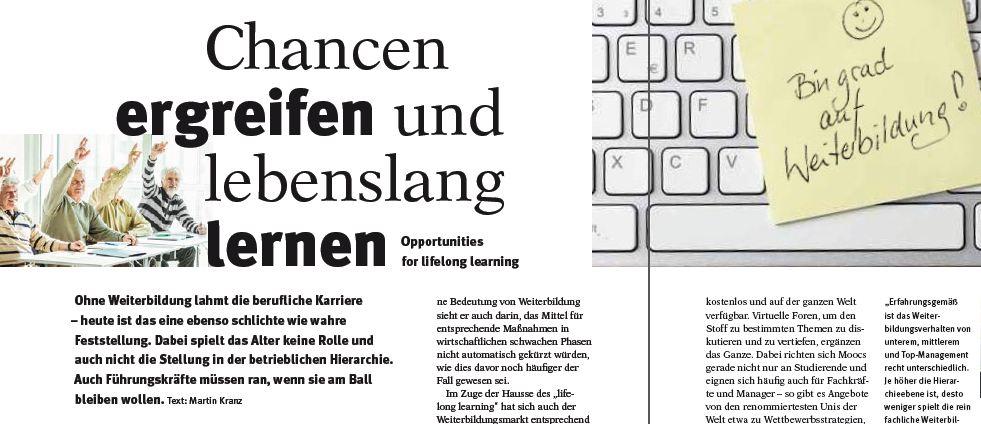 Air-Berlin-Magazin: Chancen ergreifen und lebenslang lernen