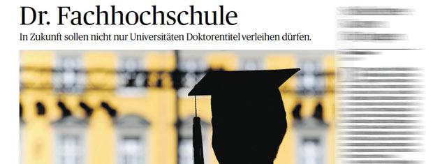 Handelsblatt: Meine Meinung zur Promotion an Fachhochschulen
