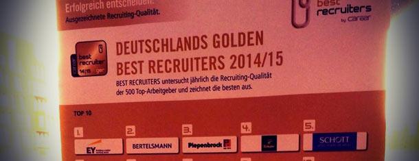 Best-Recruiter-Studie: EY bietet das beste Recruiting in Deutschland
