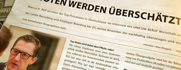 """Interview mit Unicum: """"Noten werden überschätzt"""""""