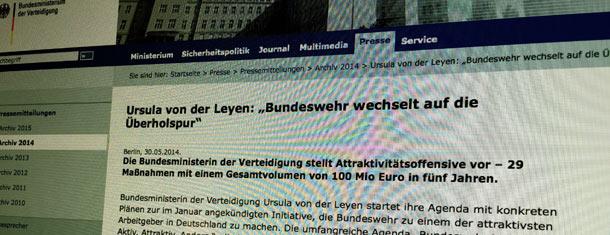 """Fachleute sagen Employer-Branding, die Bundesregierung nennt es das """"Gesetz zur Steigerung der Attraktivität des Dienstes in der Bundeswehr"""""""