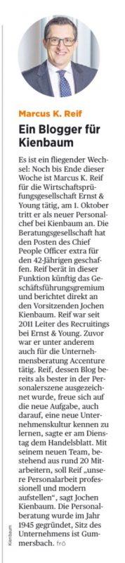 Bericht im Handelsblatt vom 28. September 2016
