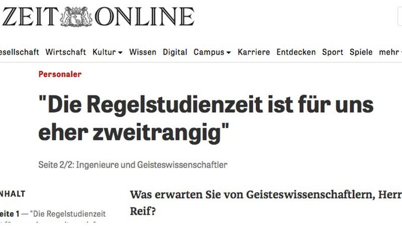 """Interview """"Praktika in Teilzeit"""" für Zeit sowie Fair Company"""