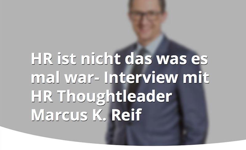 """Interview: """"HR ist nicht das was es mal war"""""""