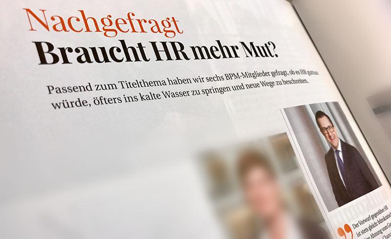 """BPM nachgefragt: """"Braucht HR mehr Mut?"""""""