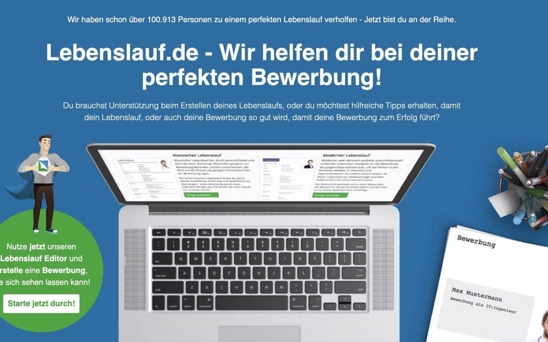 Lebenslauf.de – ein praktisches Hilfsmittel für Bewerber?
