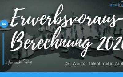 Erwerbspersonenvorausberechnung 2020: Der War for Talent mal in Zahlen